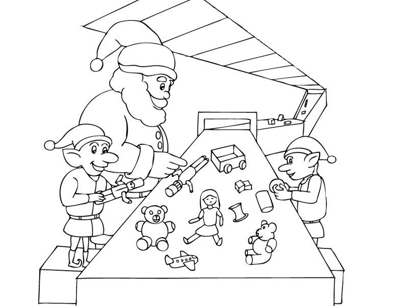 Tranh tô màu ông già Noel sản xuất quà giáng sinh