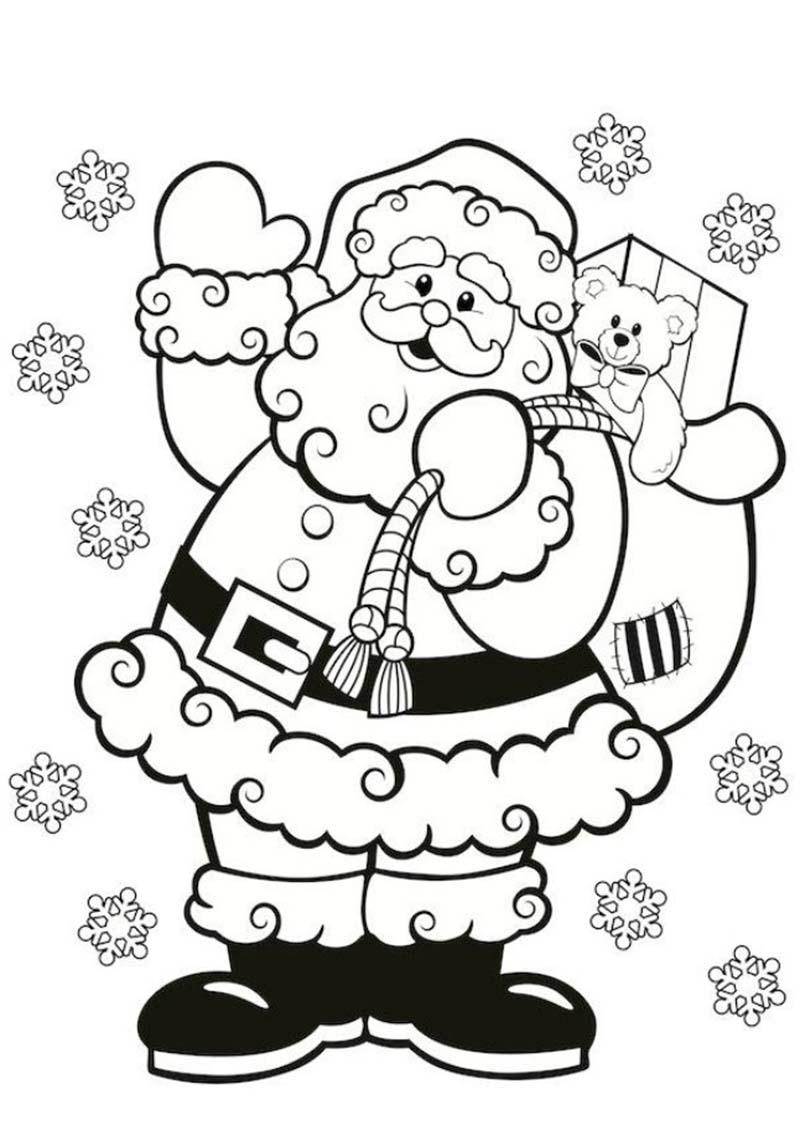 Tranh tô màu ông già Noel vui vẻ