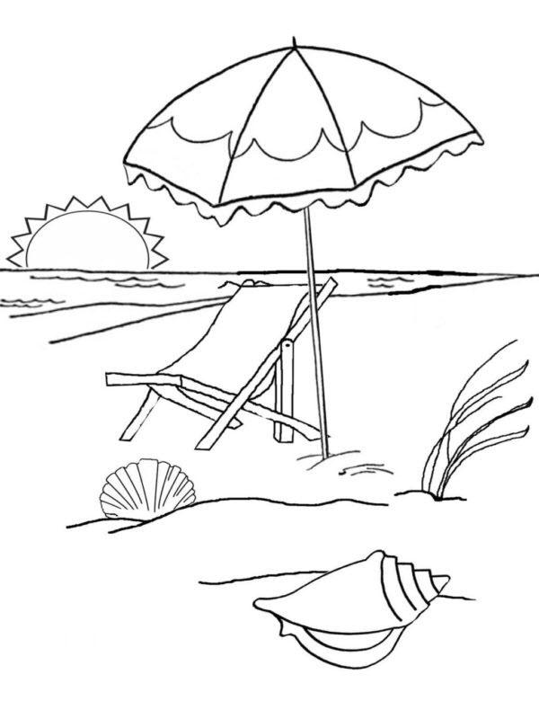 Tranh tô màu phong cảnh biển đẹp