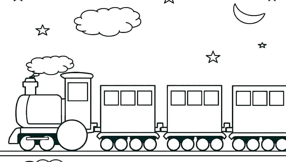 Tranh tô màu tàu hỏa cho bé