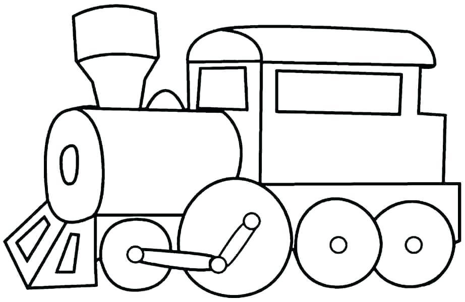 Tranh tô màu tàu hỏa đẹp, đơn giản