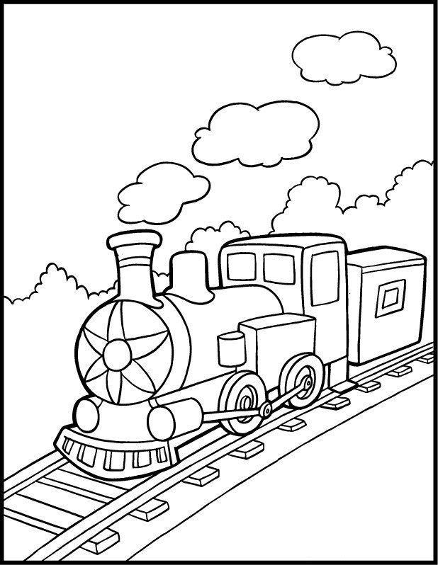 Tranh tô màu tàu hỏa đẹp nhất