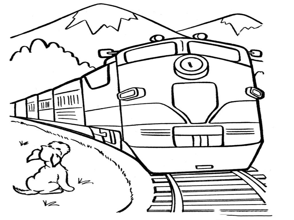 Tranh tô màu tàu hỏa đẹp