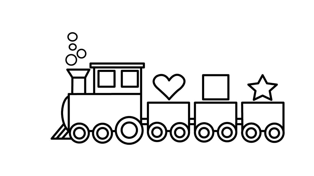 Tranh tô màu tàu hỏa đơn giản