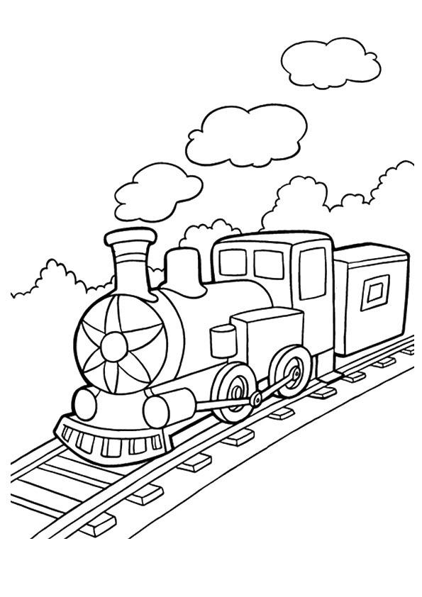 Tranh tô màu tàu hỏa