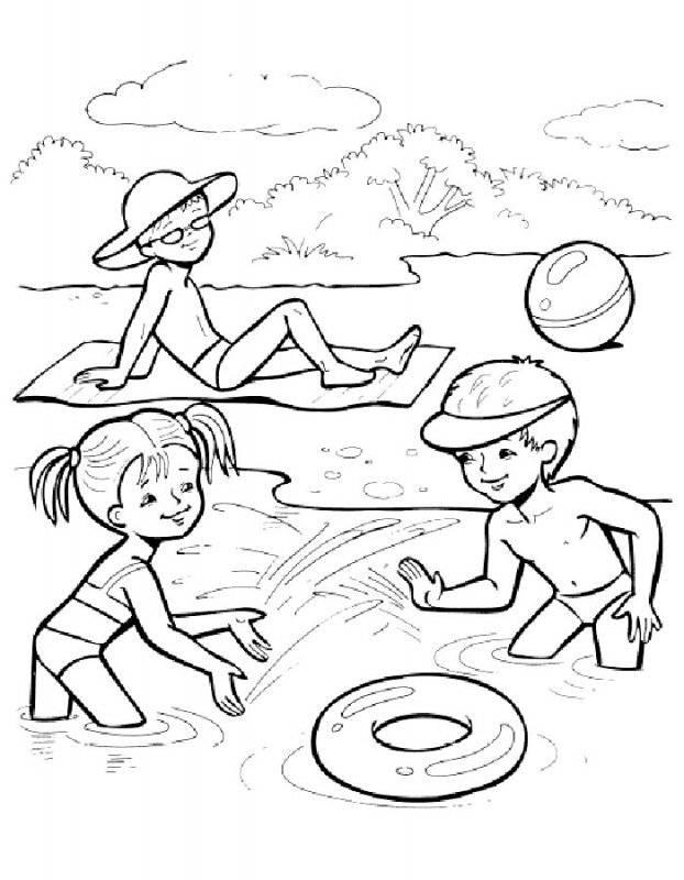 Tranh tô màu vui chơi dưới biển