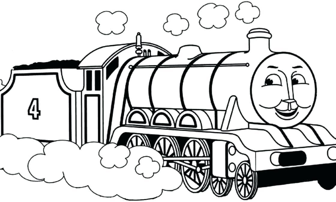 Tranh tô màu xe lửa chở than