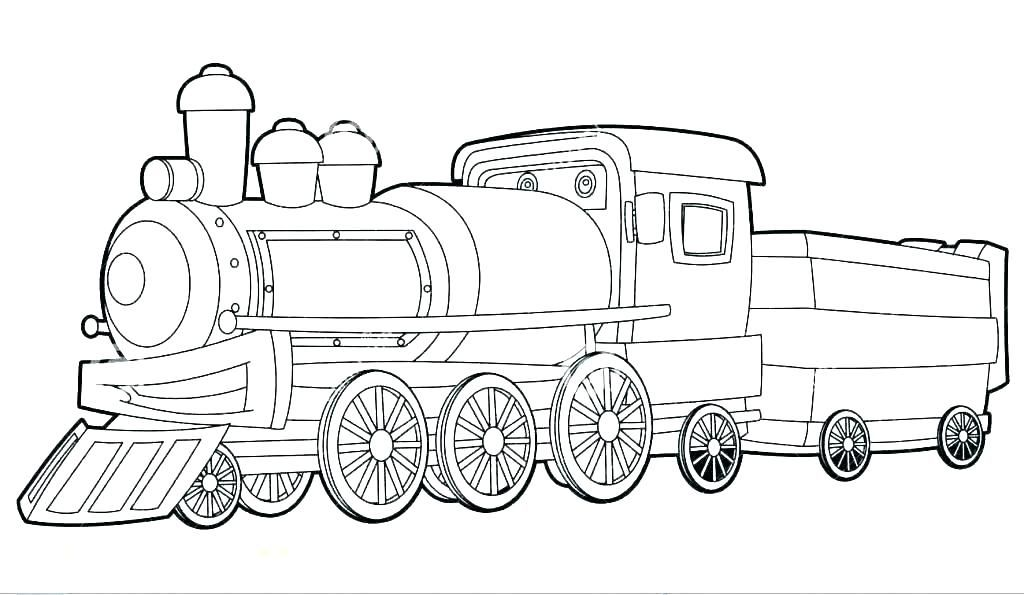 Tranh tô màu xe lửa cực đẹp