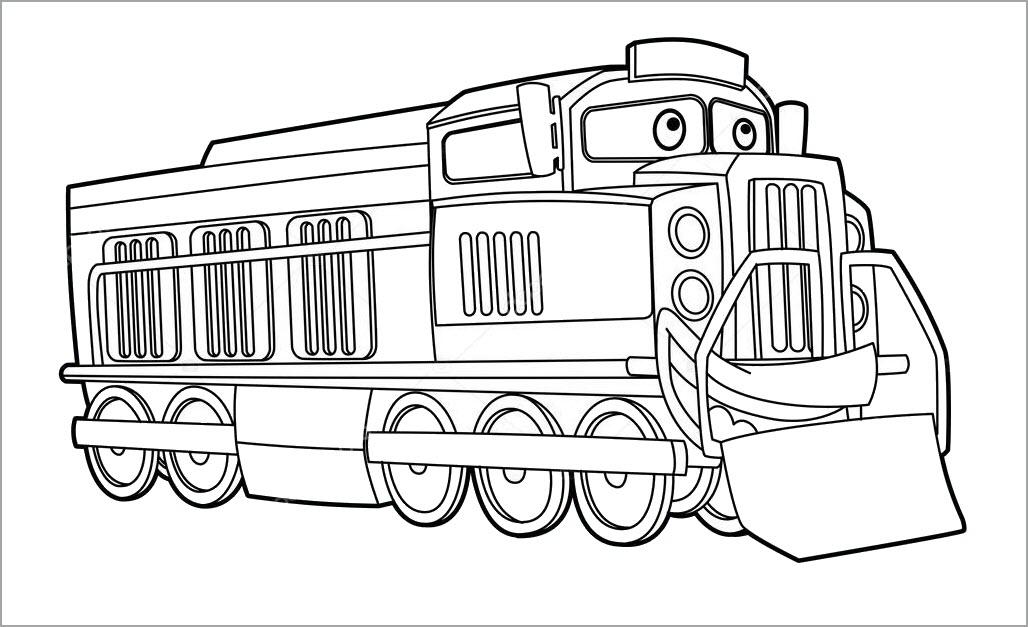 Tranh tô màu xe lửa cute đẹp nhất