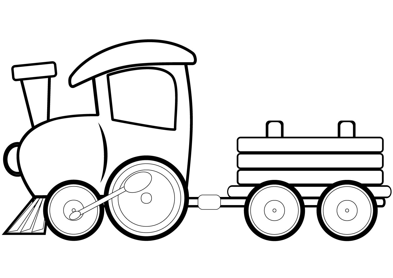Tranh tô màu xe lửa đồ chơi