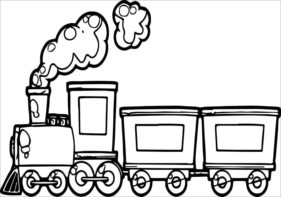 Tranh tô màu xe lửa đơn giản