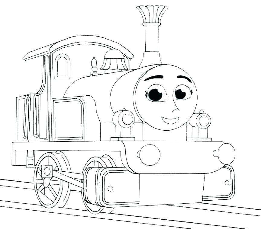 Tranh tô màu xe lửa hoạt hình