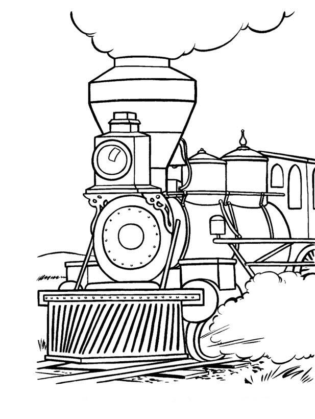 Tranh tô màu xe lửa truyền thống