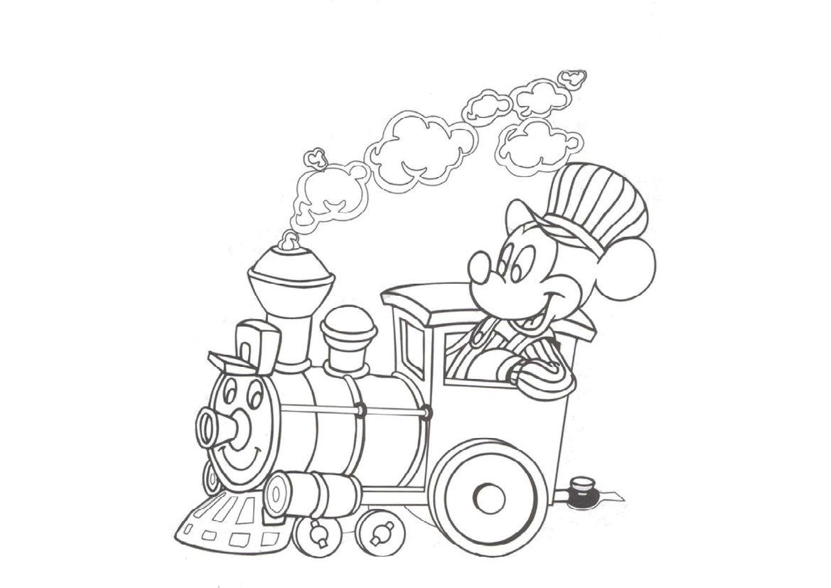 Tranh tôi màu xe lửa và chuột Mickey